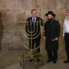 Menorah lighting at the Kotel (which is on the West Bank)