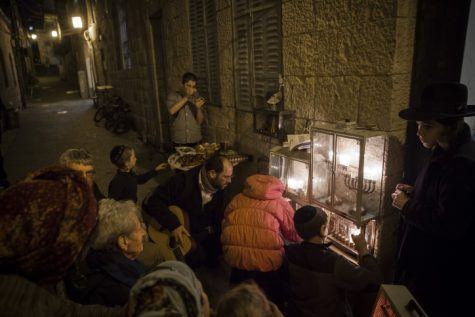 Hanukkah Candle Lighting in Nachlaot