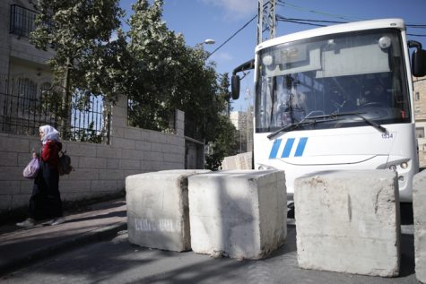 Concrete Barriers Near Jabel Mukaber