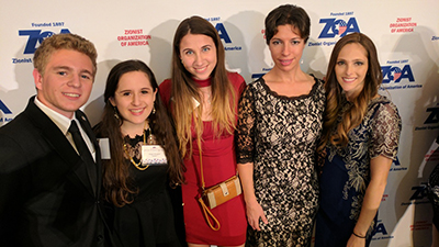 Hillel students at ZOA event.