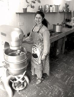 Rivka with her first mixer