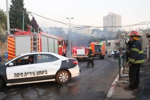 Firefighters in Haifa - Nov. 24, 2016