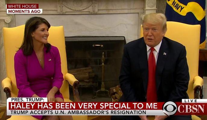US Ambassador to United Nations Nikki Haley resigns
