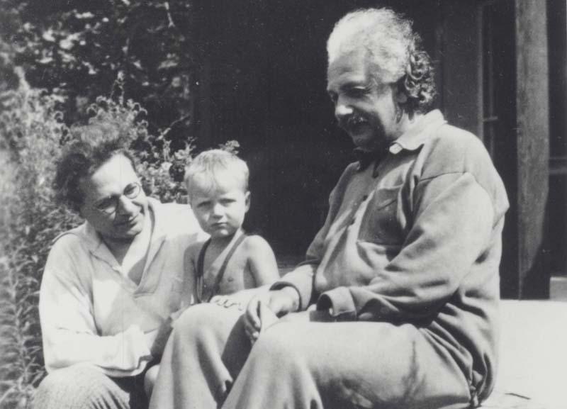 Hebrew University Albert Einstein with his grandson Bernhard