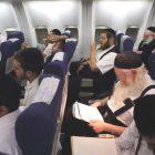 Haredi men in flight
