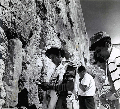 My husband next to soldier at Kotel on Thursday, June 8, 1967