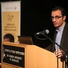 Syrian opposition member speaking at Hebrew University of Jerusalem