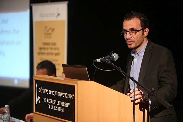 Syrian opposition member speaking at Hebrew University of Jerusalem