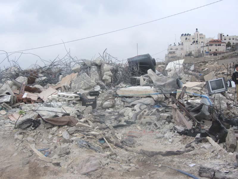 Home demolition in eastern Jerusalem