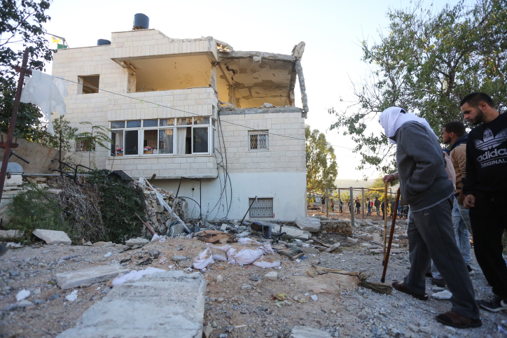 The not-destroyed home of the Har Adar terrorist.