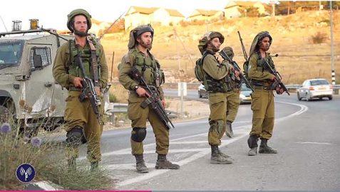 IDF soldiers securing Highway 60