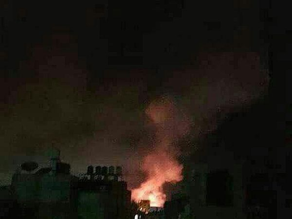 IOF fire airstrikes on Gaza