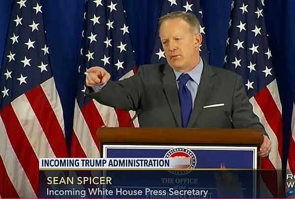 Incoming White House Press Secretary Sean Spicer