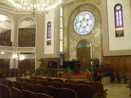 Inside the Neve Shalom synagogue in Istanbul