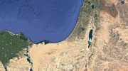 Satellite image of Israel