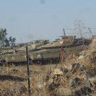 Israeli Merkava Tanks on the Syrian Israeli border