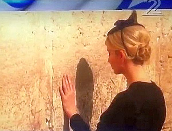 Ivanka And Melania Pray At Western Wall Women's Section