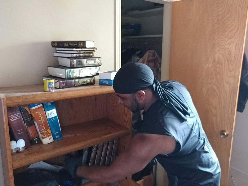 Jewish books untouched by Houston floods / Photo credit: Courtesy ZAKA