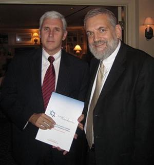 Rabbi Elon with Vice President Mike Pence.