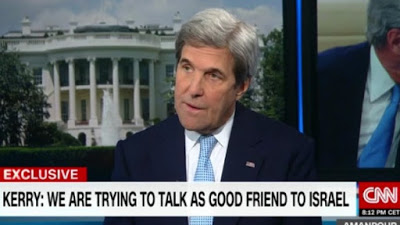 US Secretary of State John Kerry speaks to CNN on January 16, 2017.