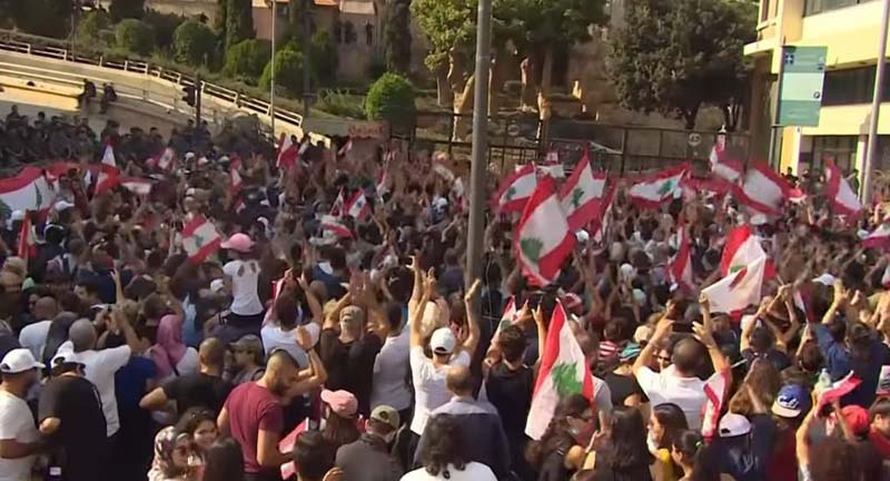 Christian party quits Lebanon gov't amid mass protests