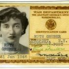 Ruth Gruber War Dept ID card January 1946