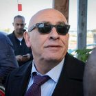 MK Basel Ghattas arrives at the Israel Police Lahav 433 investigation unit in Lod, December 20, 2016.
