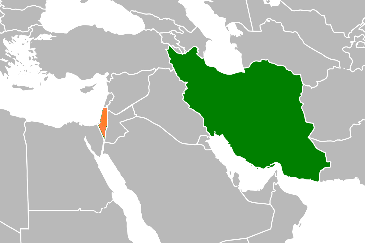 Last time iraq this time iran time for purim the jewish press regional map highlighting israel gumiabroncs Images