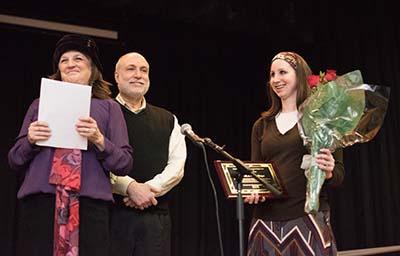 Chana (left) and Dr. Mark Singer receive Lifetime Achievement Award