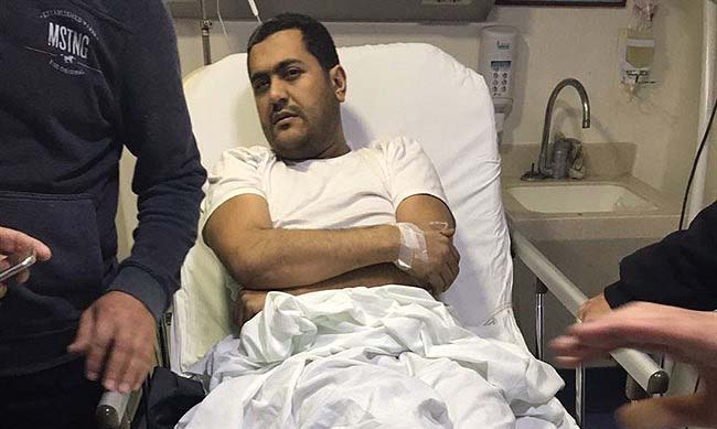 Mohammed Hamdan in hospital