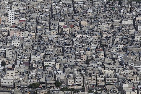 View of the city of Shechem (Nablus)