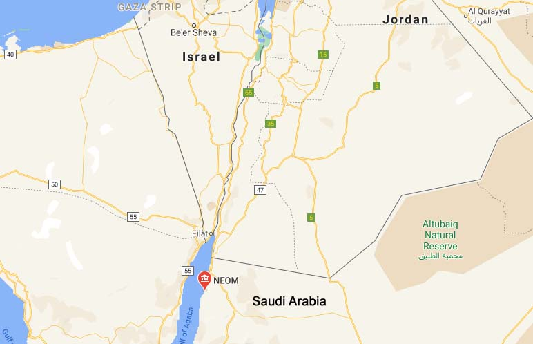 Neom Saudi Arabia Google Maps