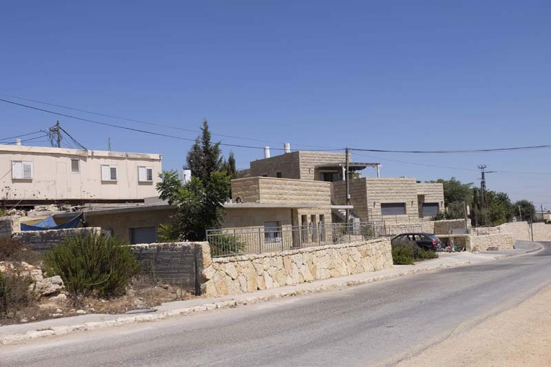 View of the Netiv HaAvot homes slated to be demolished according to the High Court of Justice.