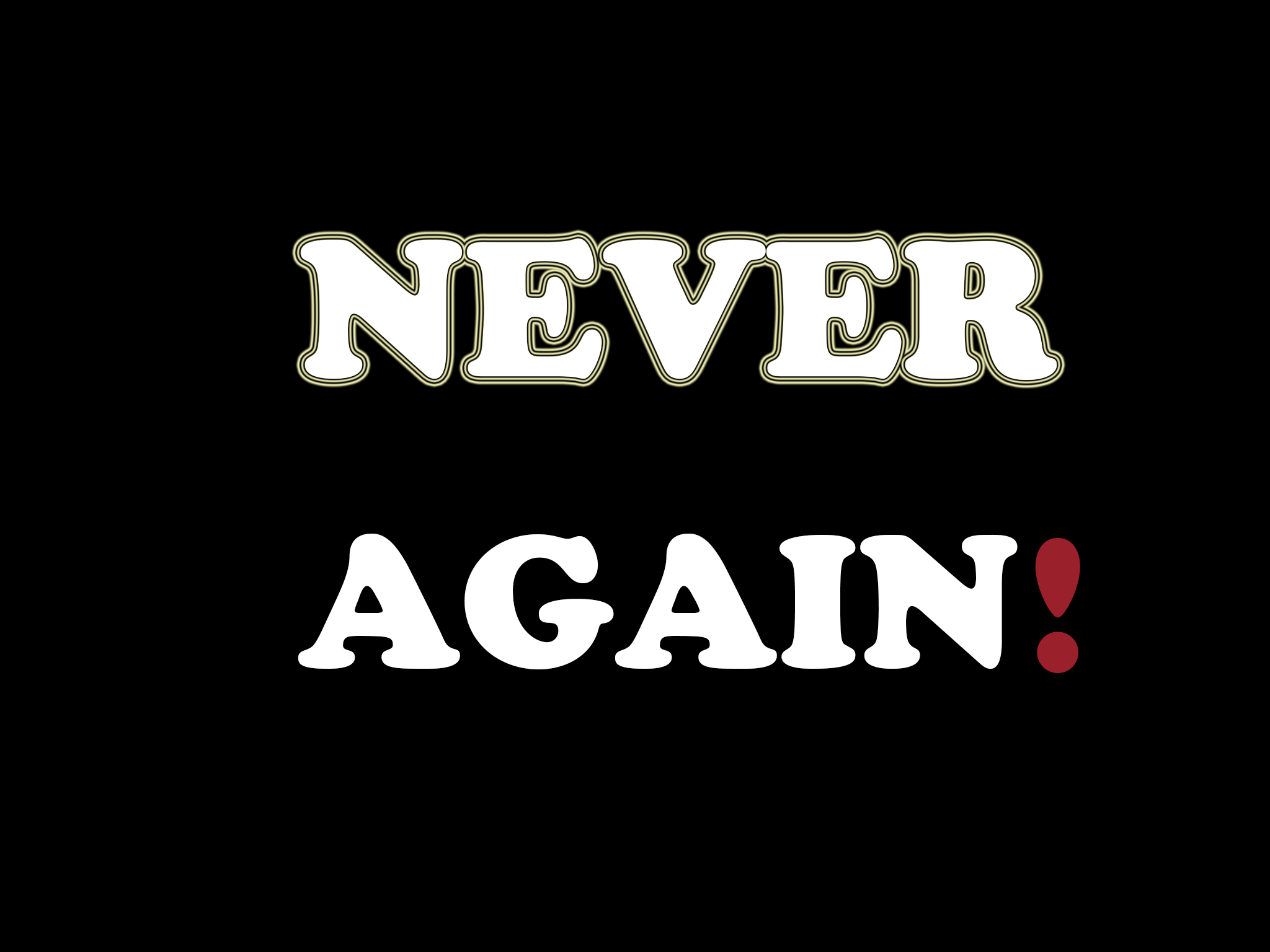 Never Again >> Never Again Standing Up To The World Bulletproof Audio The