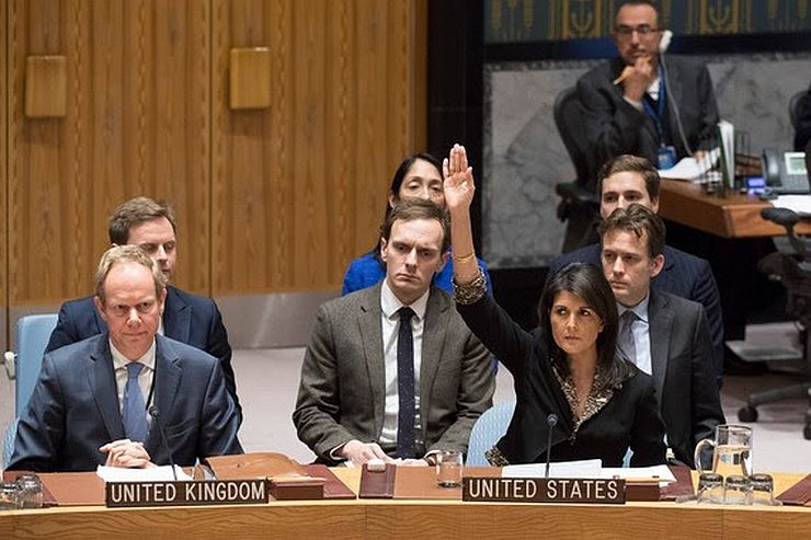 U.S. votes against UN Golan resolution for first time