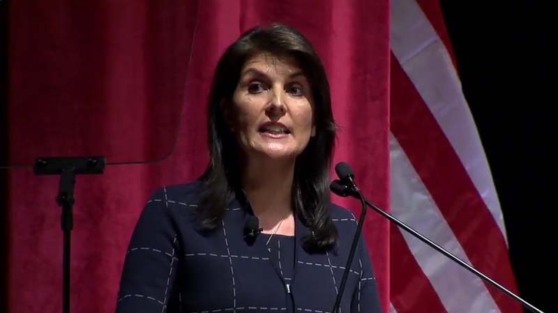 Nikki Haley says Trump's Middle East peace plan almost ready