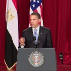Obama's first major presidential speech,  was to the Muslim world in Cairo.  (June 4, 2009)