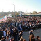 Demonstration in Ofra against the court-ordered destruction.