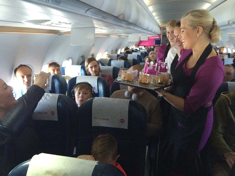 On board Wow air / Photo credit: Courtesy Wow air