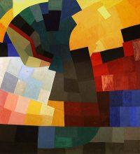 Otto Freundlich, Composition, 1935, Gouache on paper on wood panel, 108 x 99 cm.