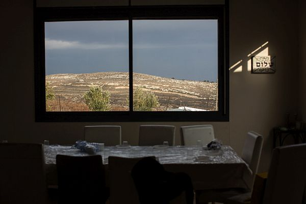 View of the mountains from a home in the Jewish community of Amona on December 16, 2016.