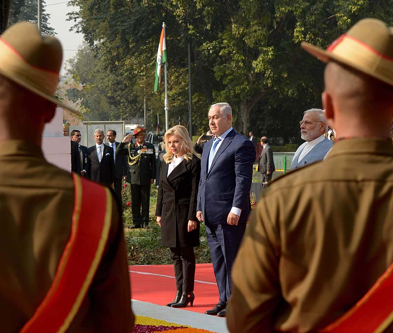 PM Netanyahu Sara Netanyahu and Indian PM Modi
