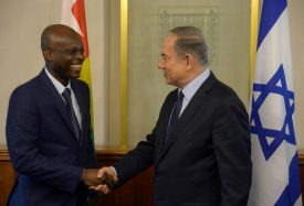 Togolese Foreign Minister Robert Dussey meets in Jerusalem with Israeli Prime Minister Benjamin Netanyahu