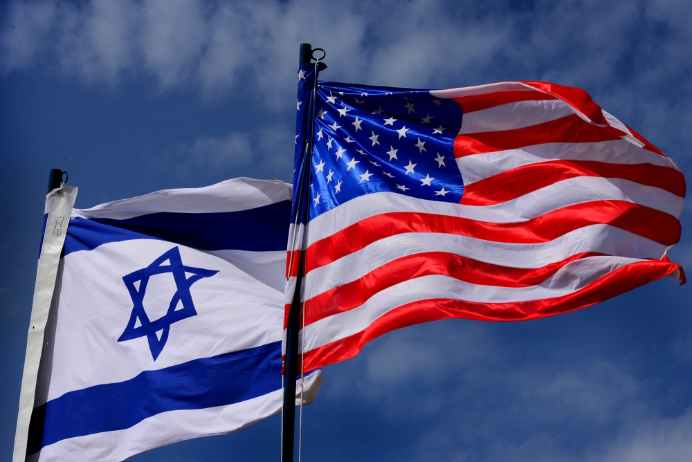 Force Flags of Israel and the United States