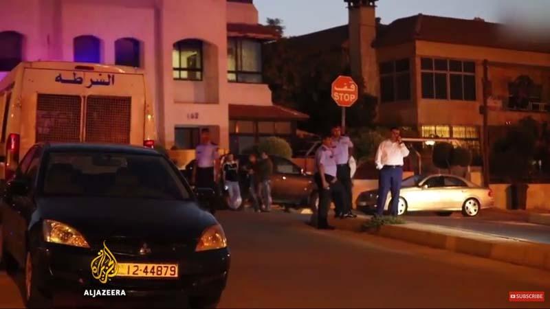 Jordanian killed, Israeli wounded at Israeli embassy