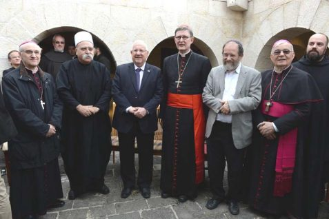 President Rivlin in Tabgha with religious dignitaries – no Muslim