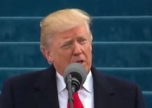 US President Donald J. Trump delivers Inaugural Address in Washington DC on Friday Jan 20 2017