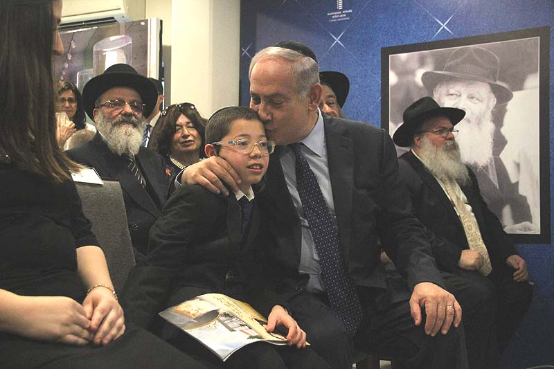 Netanyahu meets 'Baby Moshe' at Nariman House
