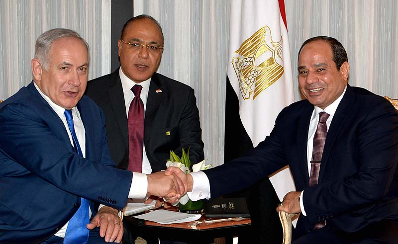 Netanyahu holds first official meeting with Egypt's al-Sissi
