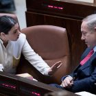 Prime Minister Benjamin Netanyahu with Justice Minister Ayelet Shaked